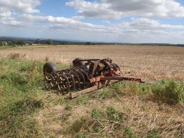 Farm machinery to the southwest of Cold Kirby.