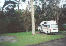 AE34	The campervan at the campsite in Lorne.