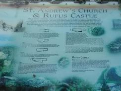 P20031050021	An information board about Rufus Castle.