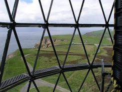P20035243154	The view from inside the Mull of Galloway lighthouse.