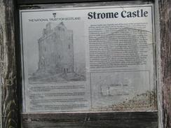 P20037235742	An information board about Strome Castle.