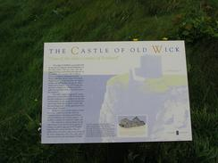 P20038197360	An information board about the Castle of Old Wick.