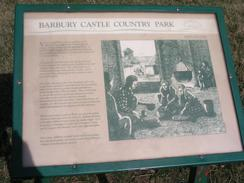 P2003A129672	An information board on Barbury Castle.
