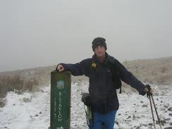 P20031030623	Myself by the Pennine Way sign at Ashop Head.