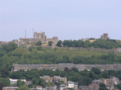 P20057166695	Dover Castle viewed from the Drop Redoubt.