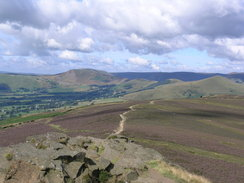 P20058077133	The view from Win Hill trig pillar.
