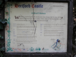 P2005B128030	An information board about Hertford Castle.