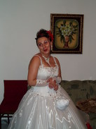 P20067010016	Ina in her wedding dress.