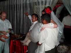 P20067010102	The kidnapped bride being returned.